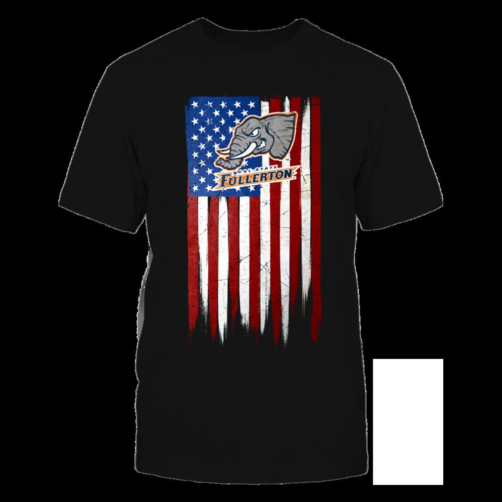 Cal State Fullerton Titans Grunge American Flag - Cal State Fullerton Titans FanPrint