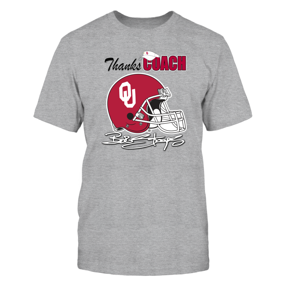 Thanks Coach Stoops Commemorative Shirt - Officially Licensed Oklahoma Sooner Football Gear Front picture