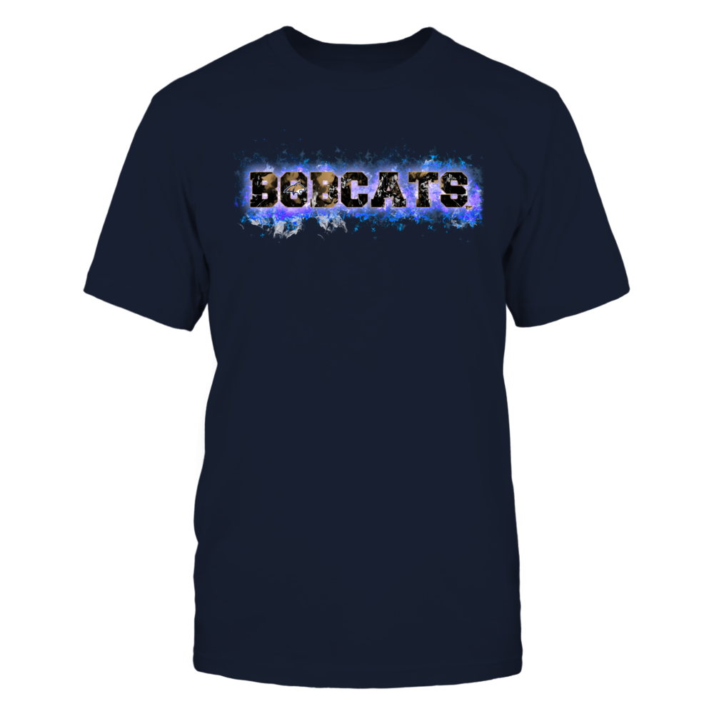 Montana State Bobcats - Fire text Front picture