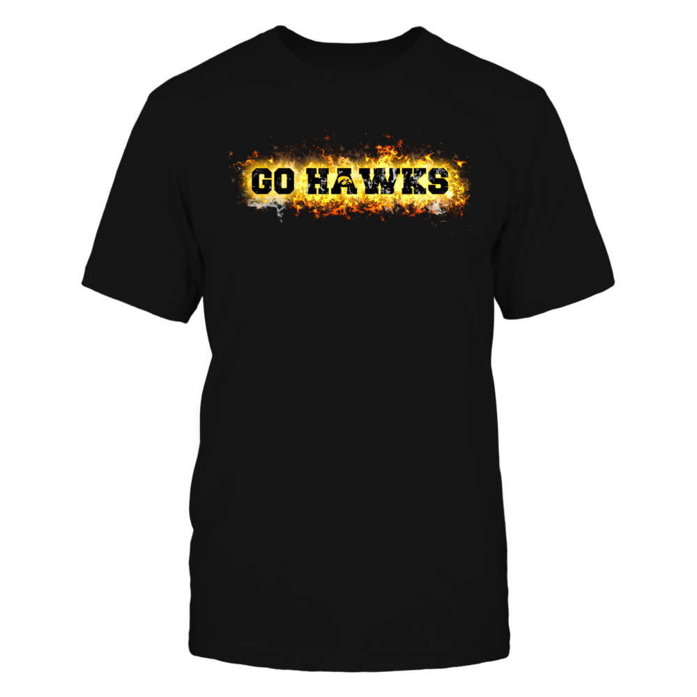 Iowa Hawkeyes - Fire text Front picture