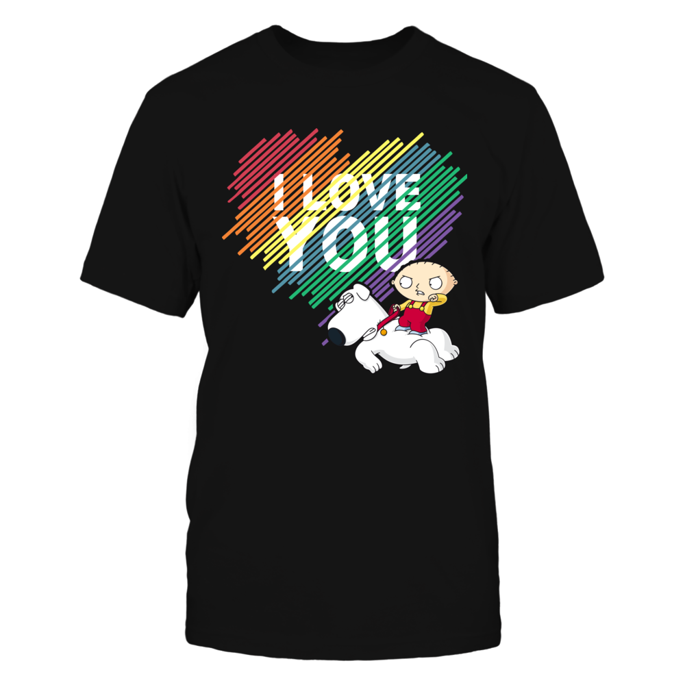 Family Guy I Love You Stewie Griffin & Brian - Shirt - Family Guy Funny Gift FanPrint
