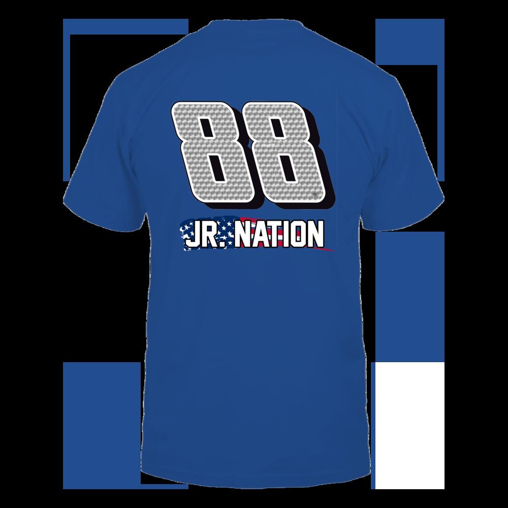 Jr Nation - American Flag Shirt - Patriotic Nascar Shirt Back picture