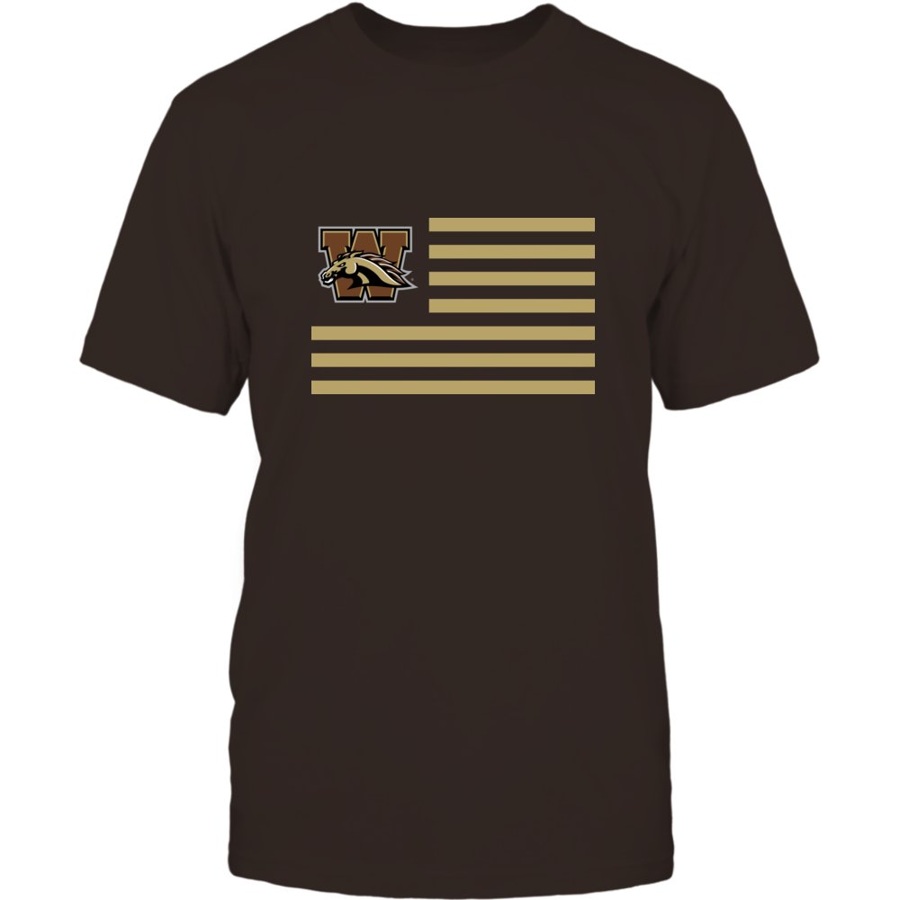 Western Michigan Broncos - Flag Stripes Front picture