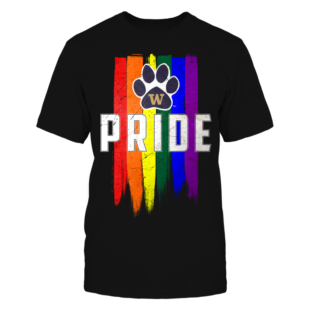 Grunge LGBT Pride Flag - Washington Huskies Front picture