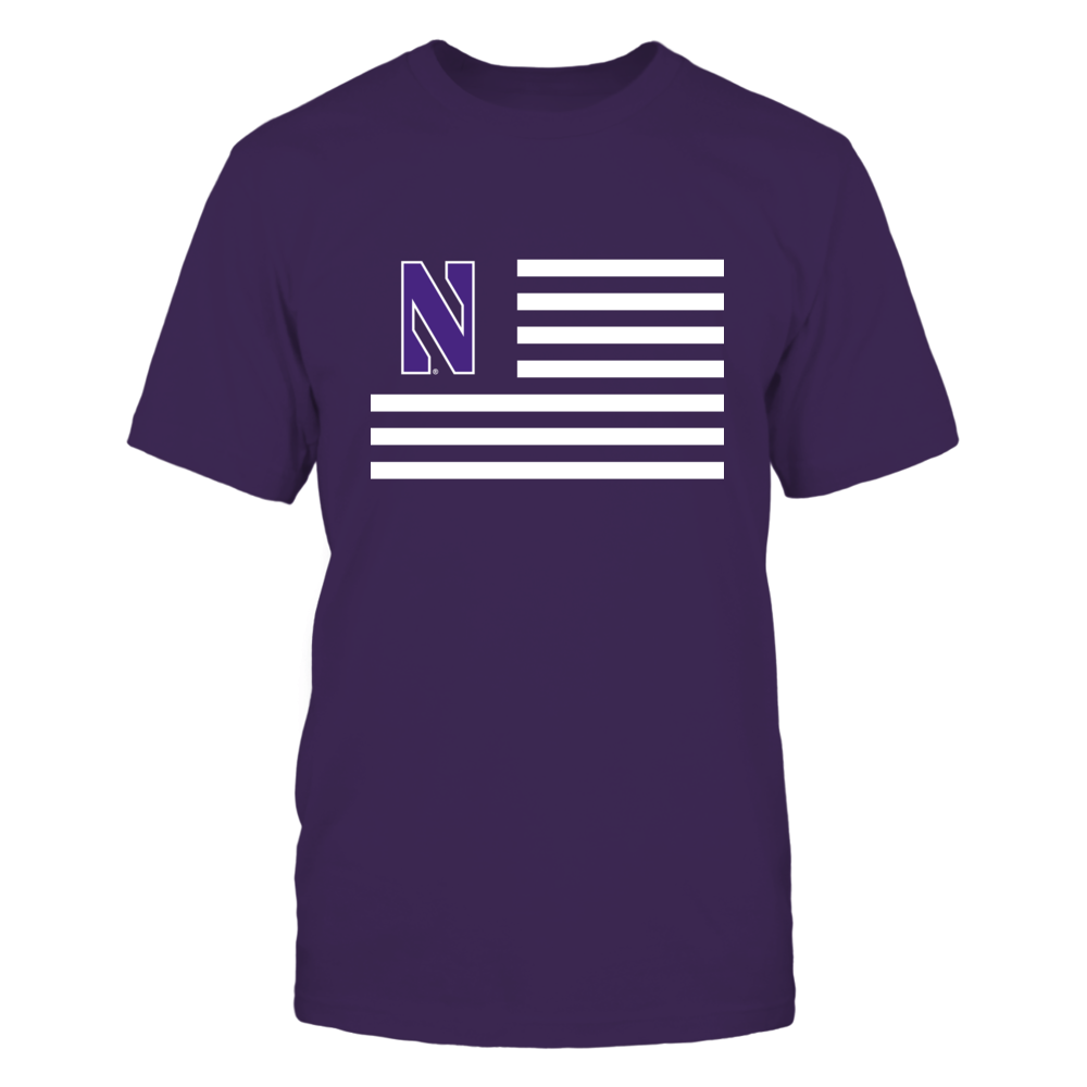 Northwestern Wildcats - Flag Stripes Front picture