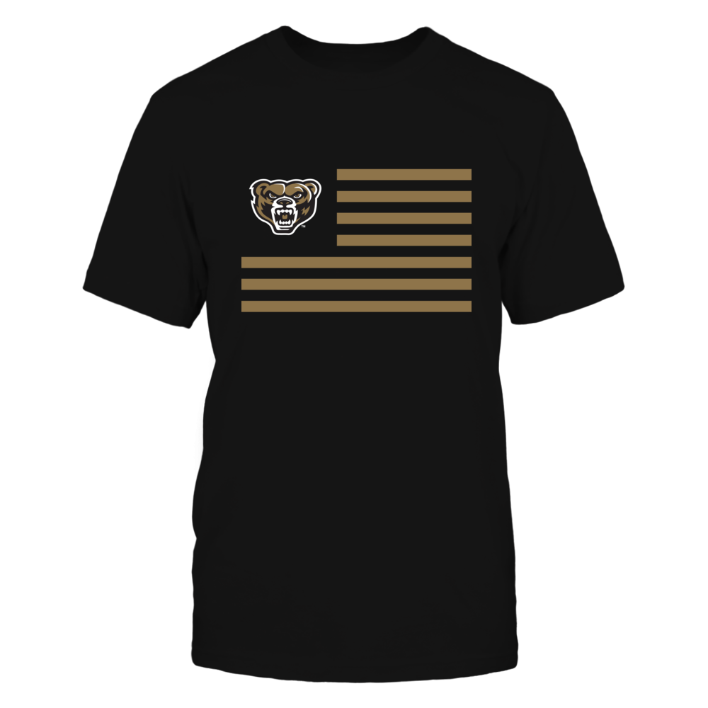 Oakland Golden Grizzlies - Flag Stripes Front picture