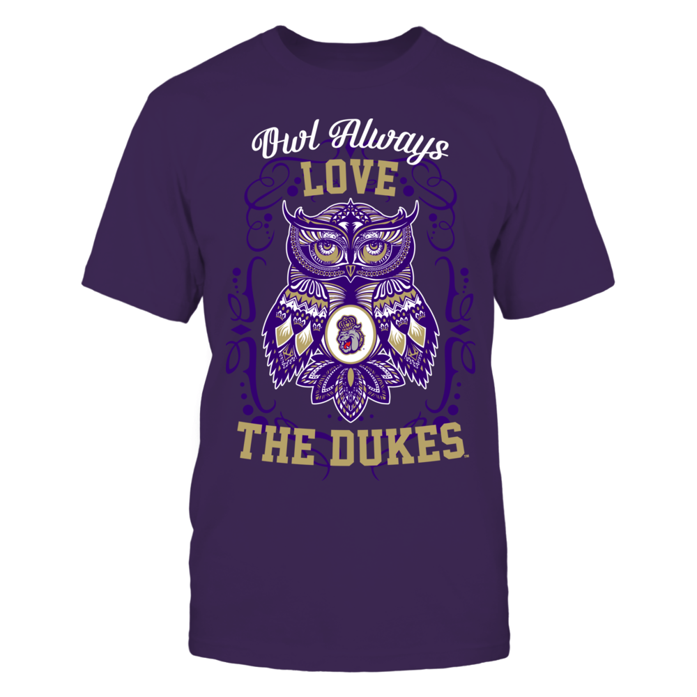 James Madison Dukes - Owl always Front picture