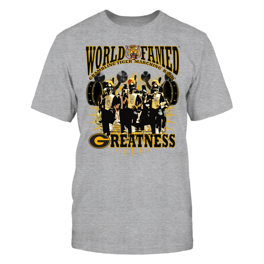 OFFICIAL GRAMBLING STATE UNIVERSITY - WORLD FAMED TIGER MARCHING BAND SHIRTS AND MORE Front picture