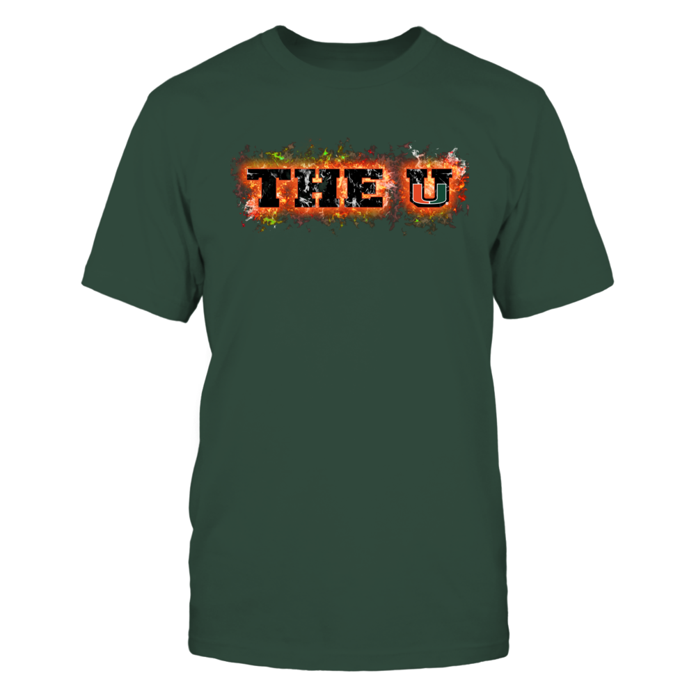 Miami Hurricanes - Fire text Front picture