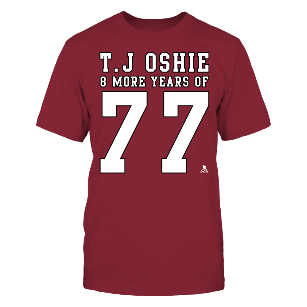 T.J Oshie, 8 More Years of 77 Front picture
