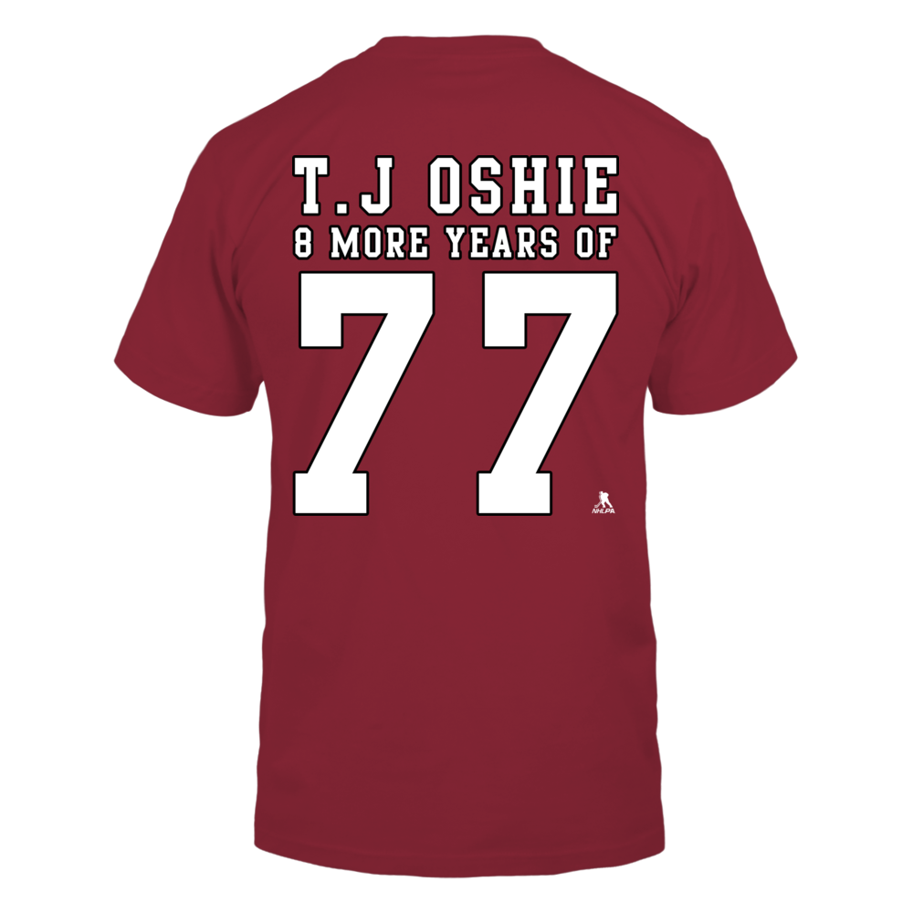 T.J Oshie, 8 More Years of 77 - Printed Back Back picture