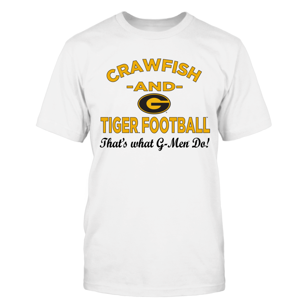 OFFICIAL GRAMBLING STATE UNIVERSITY - CRAWFISH & TIGER FOOTBALL SHIRTS AND MORE Front picture