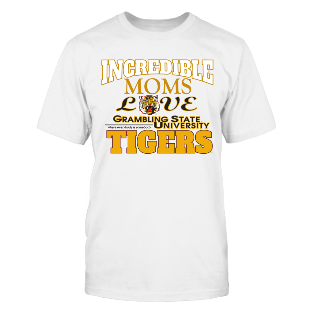 OFFICIAL GRAMBLING STATE UNIVERSITY - MOMS LOVE TIGERS SHIRTS AND MORE Front picture