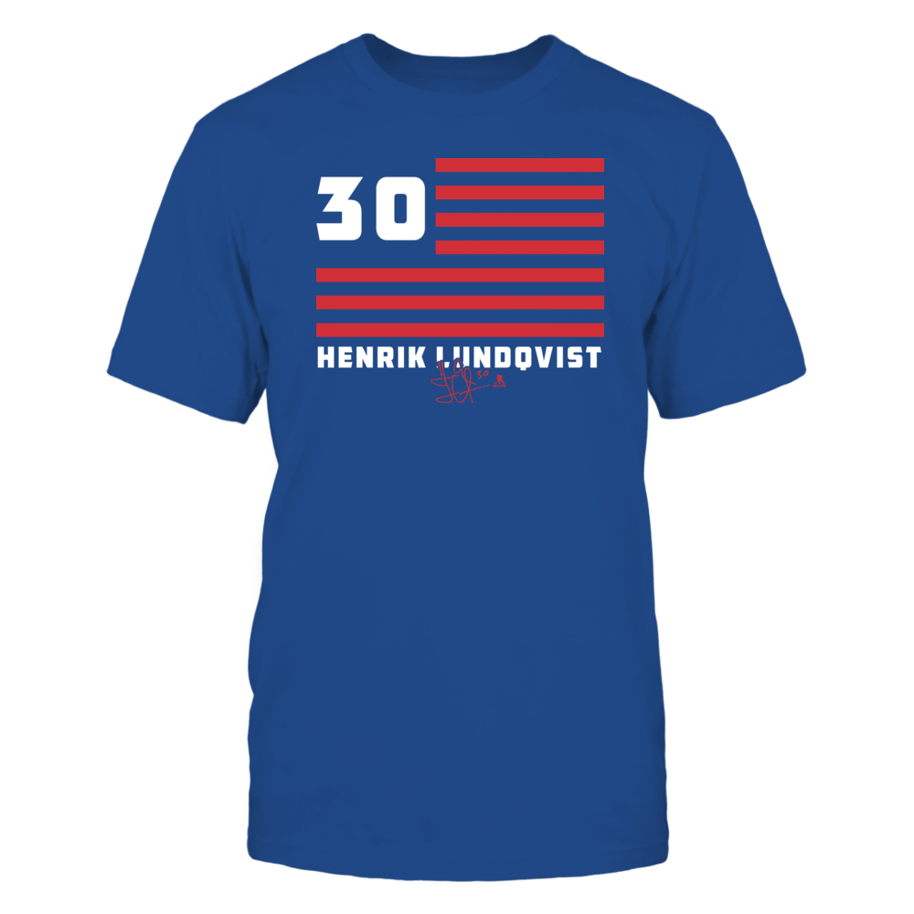 Henrik Lundqvist - Flag Stripes Front picture