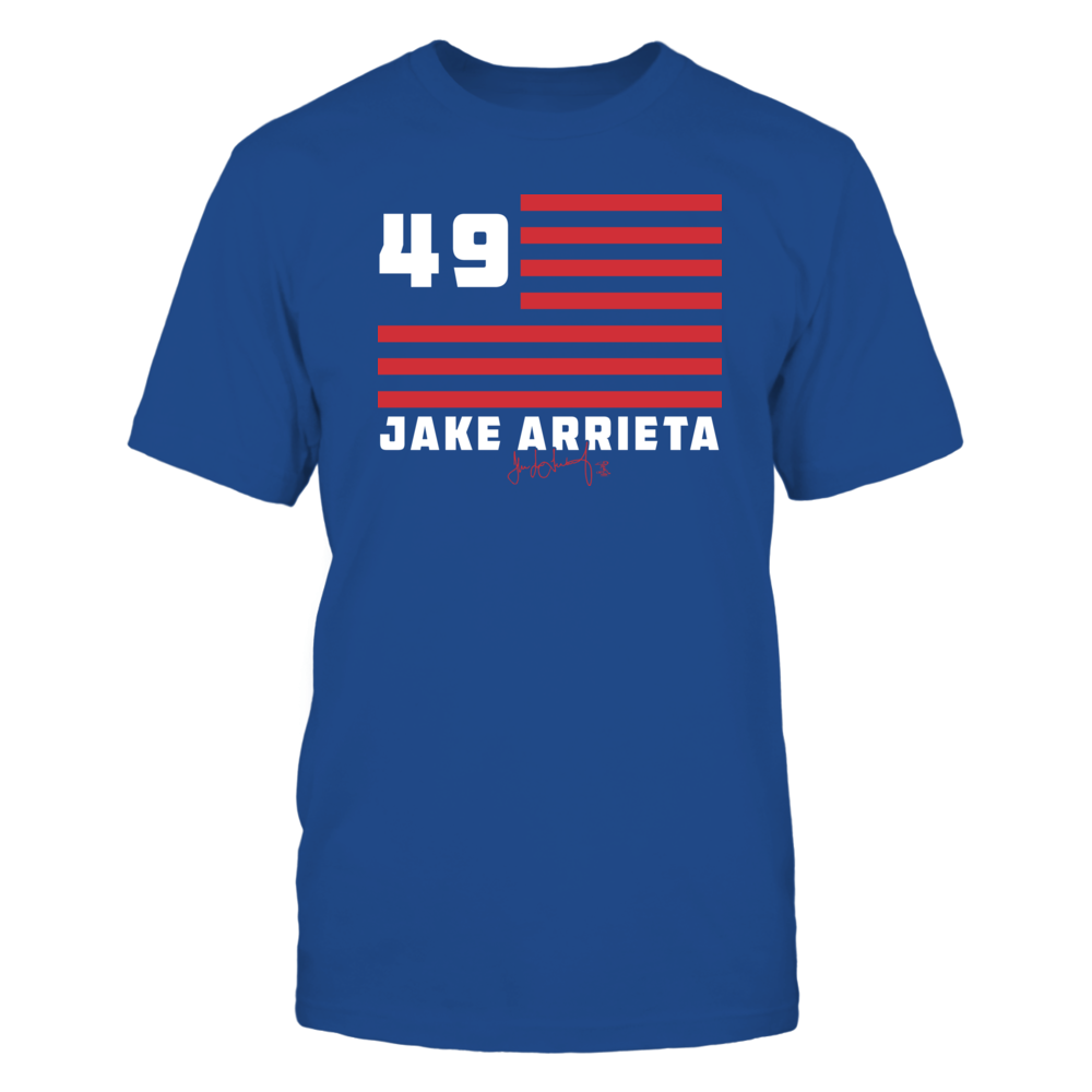 Jake Arrieta - Flag Stripes Front picture
