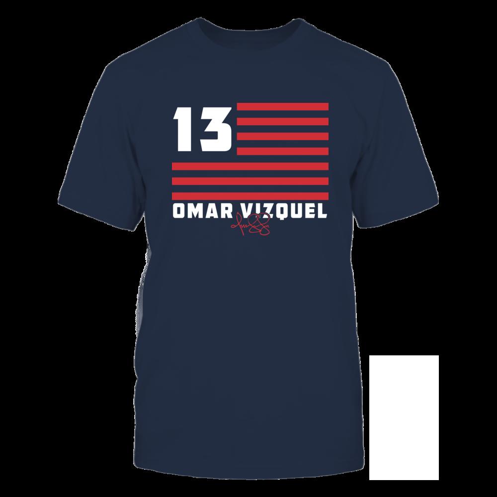 Omar Vizquel Omar Vizquel - Flag Stripes FanPrint