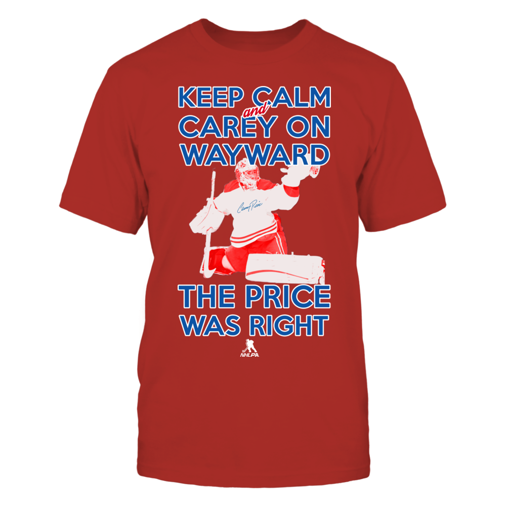 Carey Price, Keep Calm and Carey Price Front picture