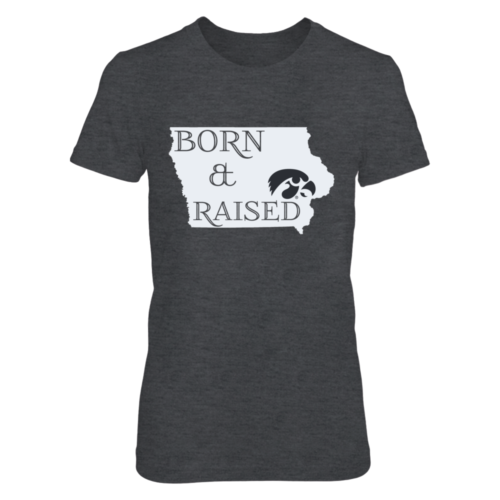 BORN & RAISED - IOWA HAWKEYES Front picture