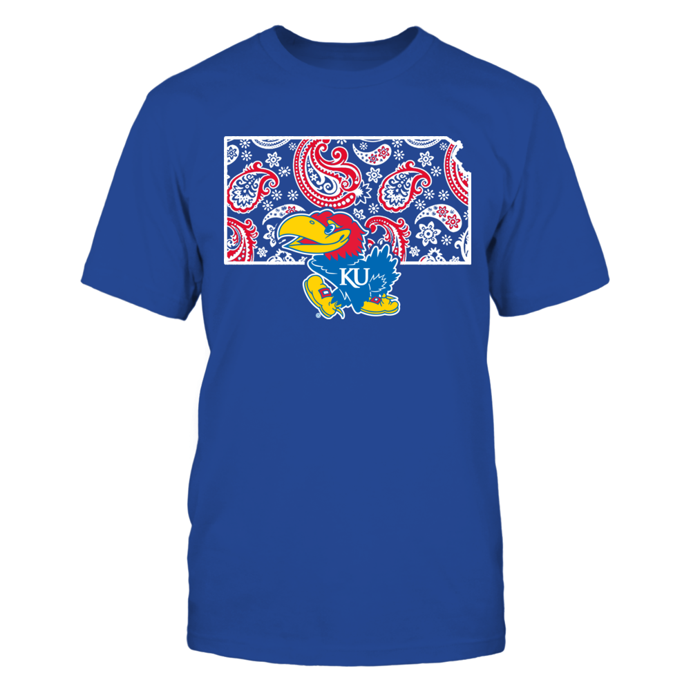 Kansas Jayhawks - State map pattern Front picture