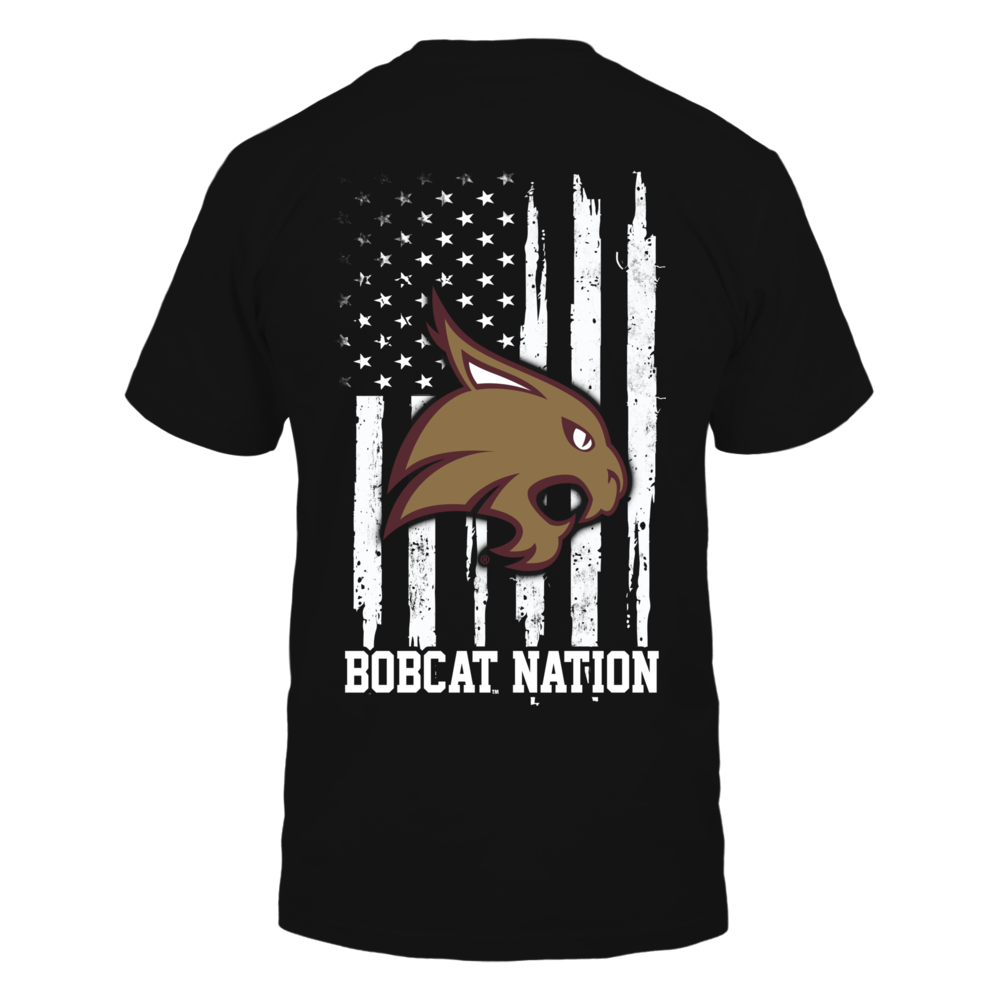 Texas State Bobcats - Nation Flag Back picture