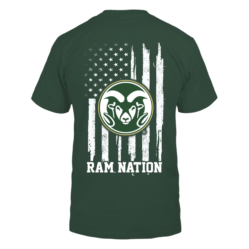 Colorado State Rams - Nation Flag Back picture