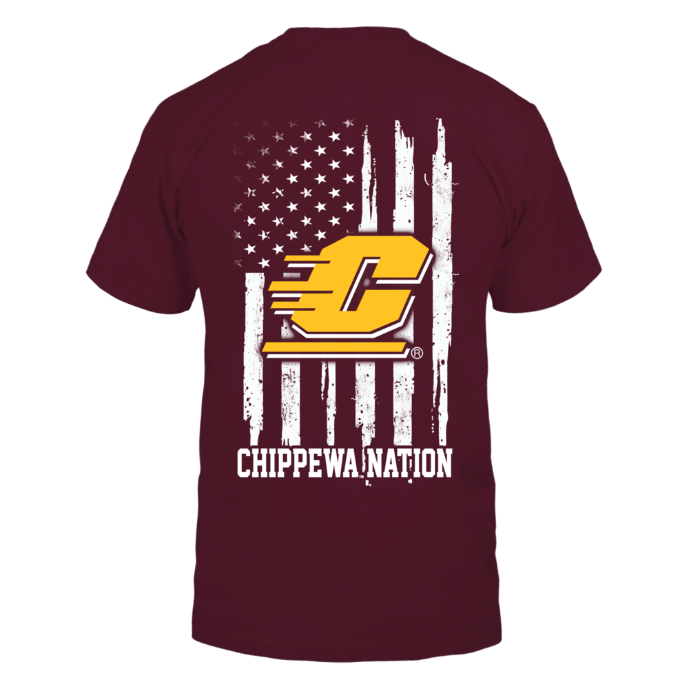 Central Michigan Chippewas - Nation Flag Back picture