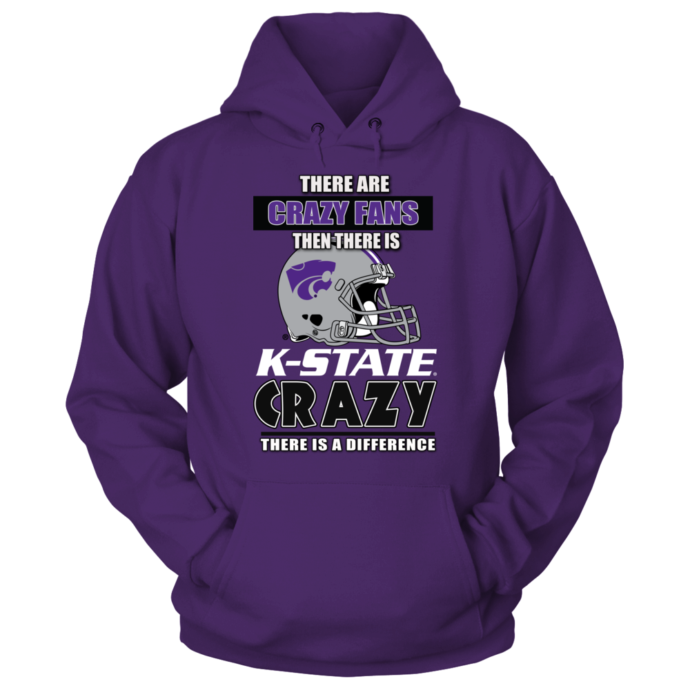 K-State Football Fans - There is Crazy then there is Kansas State Crazy Fans Front picture
